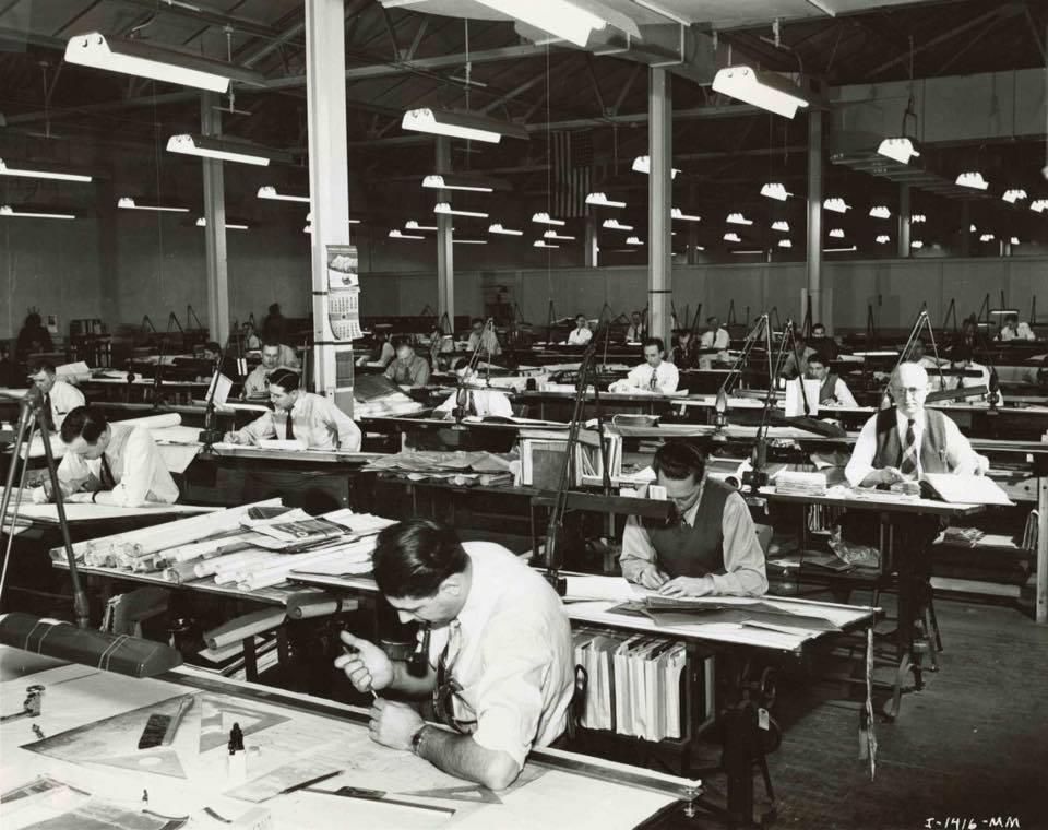走思客設計圖誌_沒有Autocad繪圖軟體的那個年代建築事務所是如何製圖的? (1)