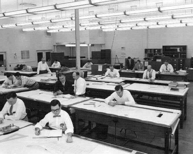走思客設計圖誌_沒有Autocad繪圖軟體的那個年代建築事務所是如何製圖的? (15)