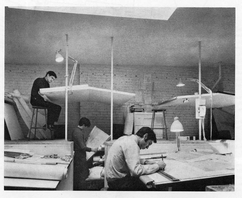 走思客設計圖誌_沒有Autocad繪圖軟體的那個年代建築事務所是如何製圖的? (3)