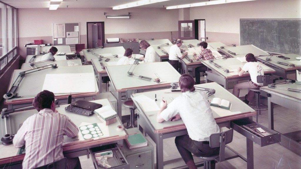 走思客設計圖誌_沒有Autocad繪圖軟體的那個年代建築事務所是如何製圖的? (6)