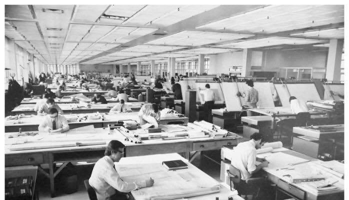 走思客設計圖誌_沒有Autocad繪圖軟體的那個年代建築事務所是如何製圖的? (7)