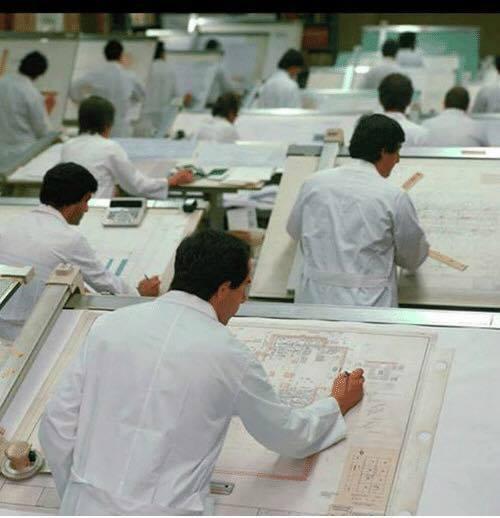 走思客設計圖誌_沒有Autocad繪圖軟體的那個年代建築事務所是如何製圖的? (9)